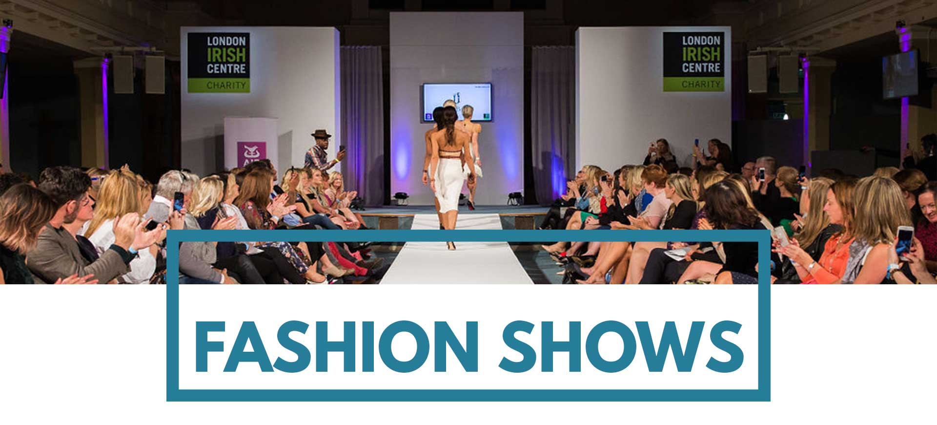Catwalk with audience at St Mary's London Venue Hire