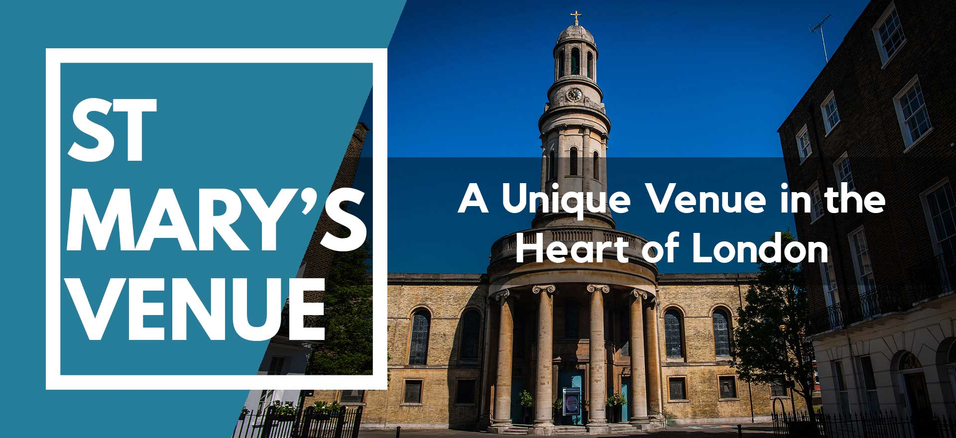 Header image of outside St Mary's Venue Hire, London