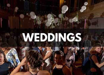 Dancing at a wedding reception at St Mary's Venue Hire, London
