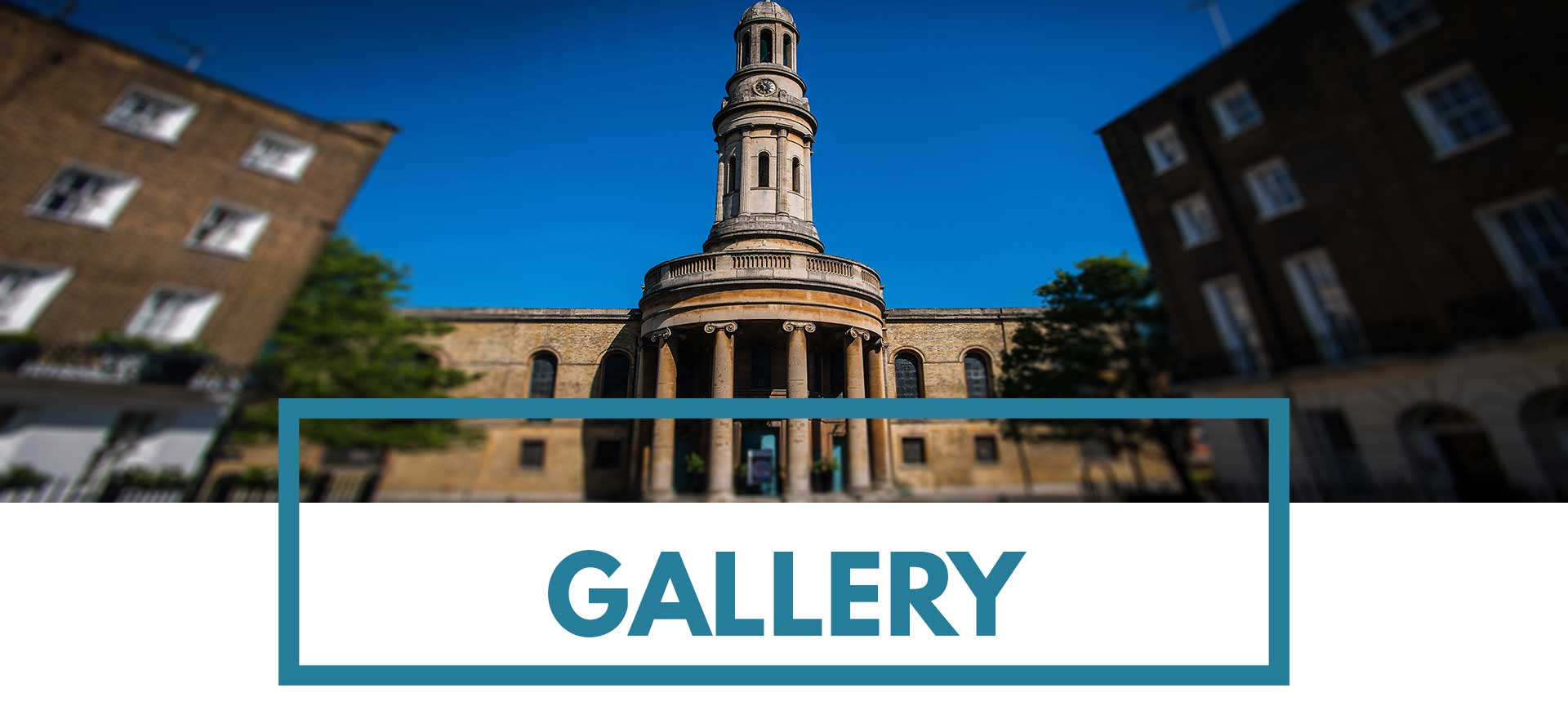 Header image of the church for the photo gallery of St Mary's Venue Hire, London