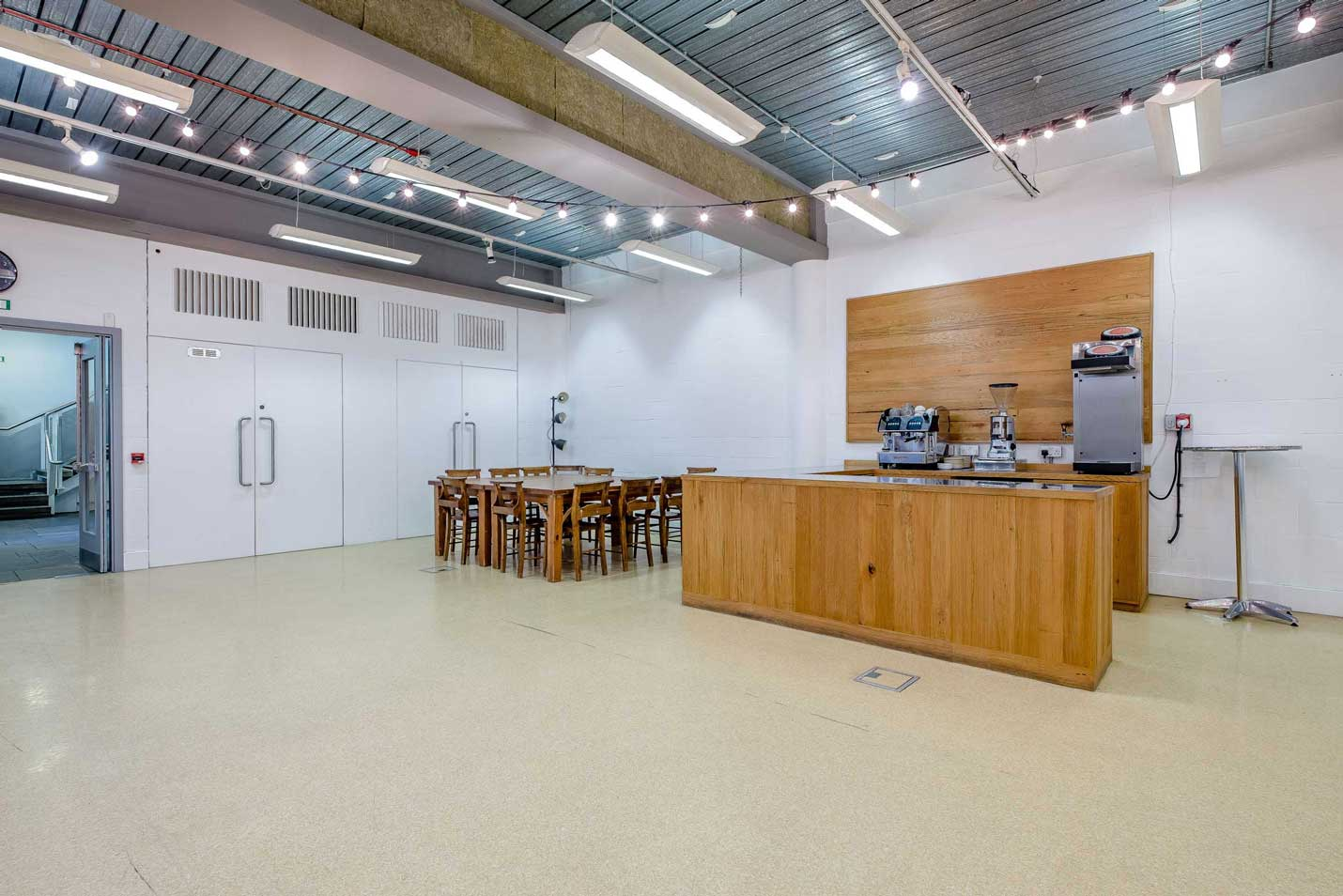 Coffee bar on the Lower Floor of St MAry's Venue Hire