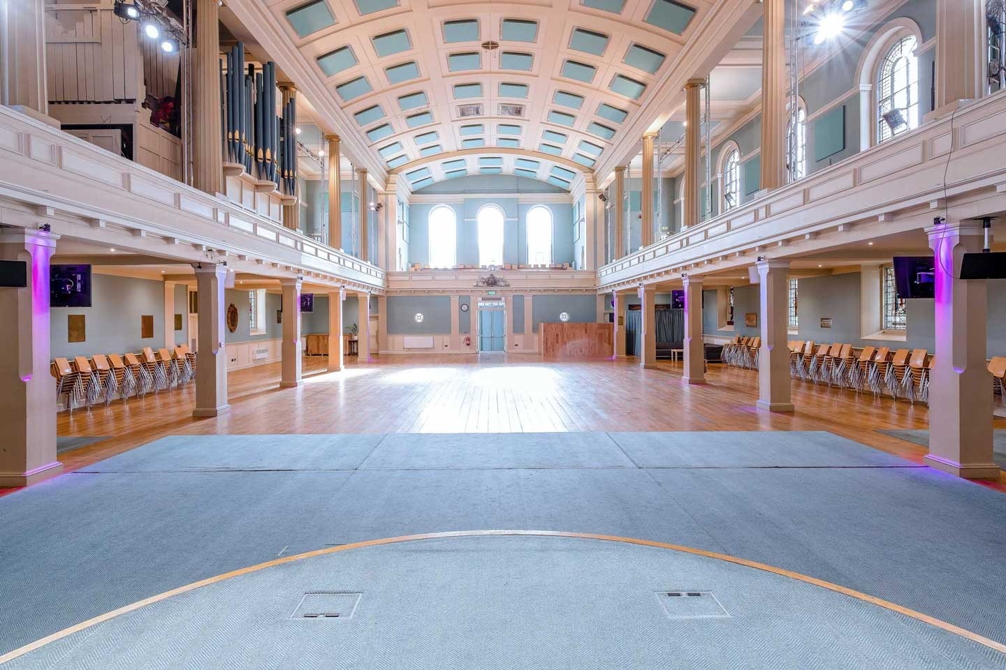 image of the main auditorium at St Mary's Venue Hire from the main stage