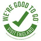 Green visit england 'we're good to go' logo